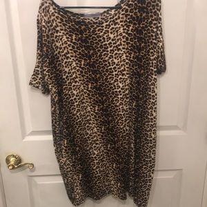 Leopard mini shift dress size XL